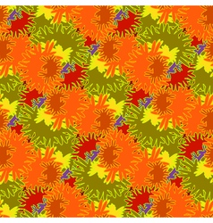 Autumn bright colors leaves carved seamless vector