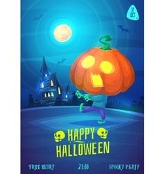 set of halloween vector image