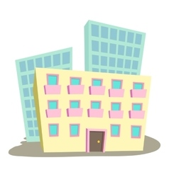 Administrative building icon cartoon style vector