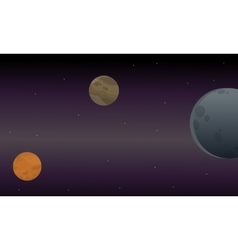 Landscape of scape with planets vector