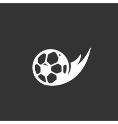 Football logo on black background icon vector image