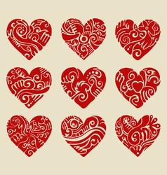 Tribal hearts vector image