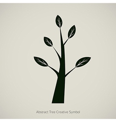 Tree Symbol Design Creative Nature Icon vector image