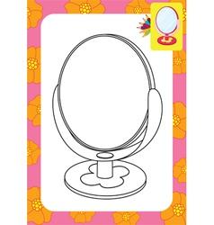 Mirror toy vector image