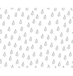 drops hand drawn seamless pattern vector image