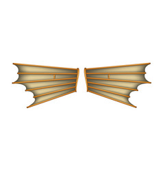 Vintage wings with wooden construction vector