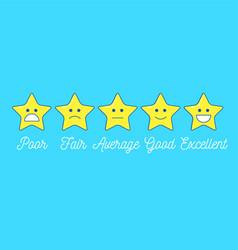 Feedback emoticon star scale line design positive vector