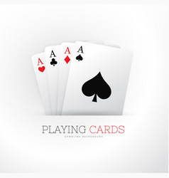 Poker card four aces background vector