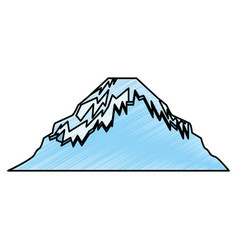 japanese mountain isolated icon vector image