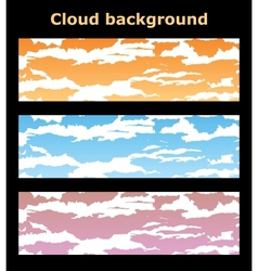 Backgrounds clouds vector image