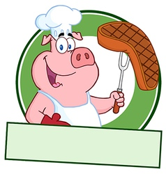 Pork steak cartoon vector