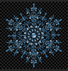 Big translucent christmas snowflake vector