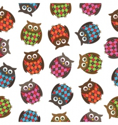 Harlequin owls vector