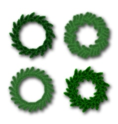 Christmas traditional wreaths set vector
