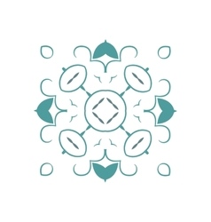 Ornamental white background with oriental vector