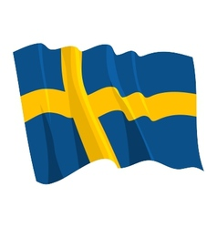 Political waving flag of sweden vector