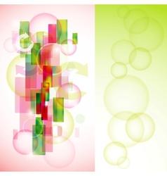 stylish colorful background set vector image