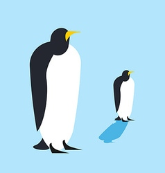 Penguin isolated arctic birds animal antarctica vector