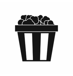 Box of popcorn icon simple style vector
