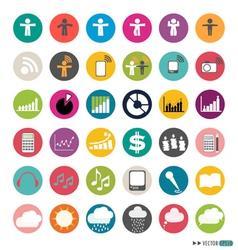 Application Web Icons Set vector image