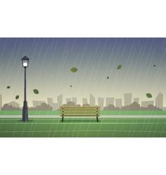 Autumn city park vector