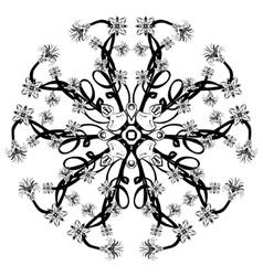Beautiful deco black floral mandala vector