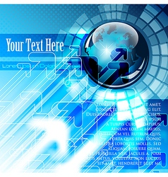 Business and communications concept vector image vector image