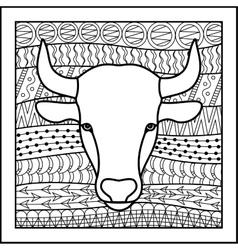 Chinese zodiac sign bull vector