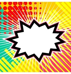 Empty comic speech star bubble vector image vector image