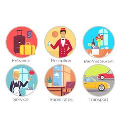 entrance reception service vector image