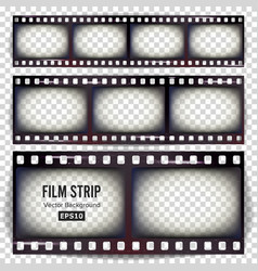 film strip set realistic frame strip blank vector image