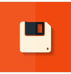 Floppy disk icon flat design vector