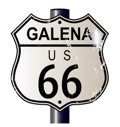 Galena route 66 sign vector