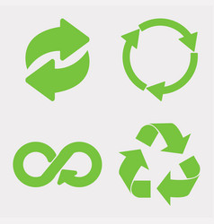 green recycle icon vector image