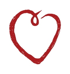 Hand drawn heart symbol1 vector image