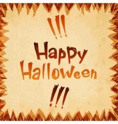 Happy halloween message paper design background vector