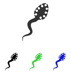 Infectious microbe flat icon vector