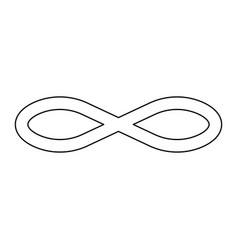 Infinity symbol the black color icon vector