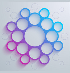 Infographics blue and purple gradient circles vector image vector image