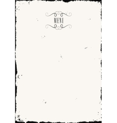 Old paper menu vector image