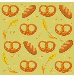 pattern bread wheat pretzel vector image