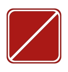 restricted square sign road traffic vector image
