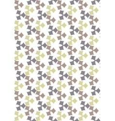 Seamless geometric pattern flowers beautiful vector image