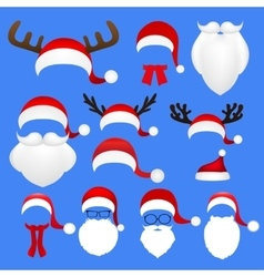 Templates for picture reindeer antlers and a hat vector image