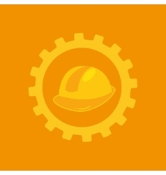 Tool box helmet construction icon design vector
