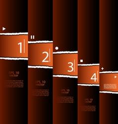 Torn paper modern design vector image vector image