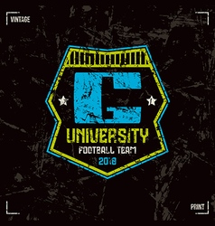 University football team badge vector