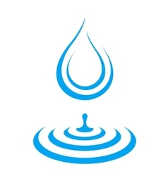 water droplet icon splash vector image