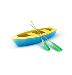 Wooden fishermans boat vector