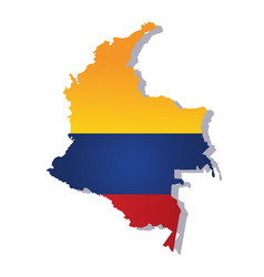 Colombia flag amp map vector